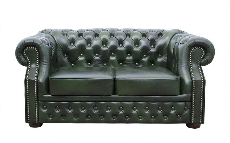 Chesterfield Windsor XL 2-es kanapé antikzöld Bruttó: 495.300 Ft
